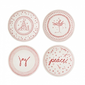 Royal Doulton: ED Small Holiday Accent Plate, Set of 4