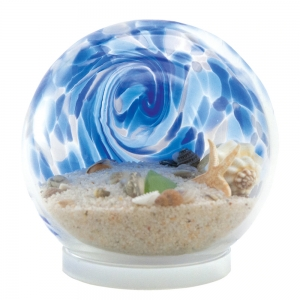 Glass Eye Studio: Small Sea Globe, Blue