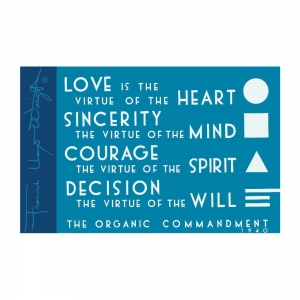 Galison: Frank Lloyd Wright Organic Commandment Magnet