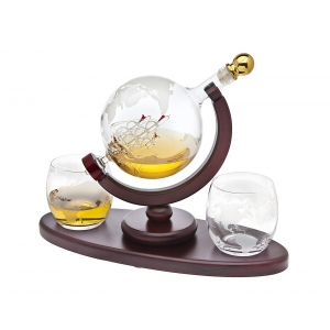 Godinger: Globe Whiskey, Three Piece Set