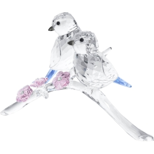 Swarovski: Blue Chickadees Couple