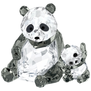 Swarovski: Panda Mother with Baby