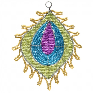Beadworx: Beaded Jewel Feather Ornament