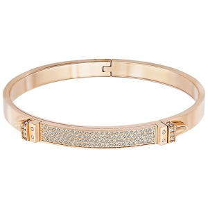 Swarovski: Distinct Narrow Bangle, White, Rose Gold Plated