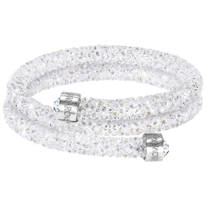 Swarovski: Crystaldust Medium Double Bangle, White