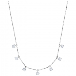 Swarovski: Attract Choker Necklace, White, Rhodium Plated