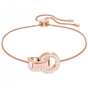 Swarovski: Hollow Bracelet, White, Rose Gold Plated
