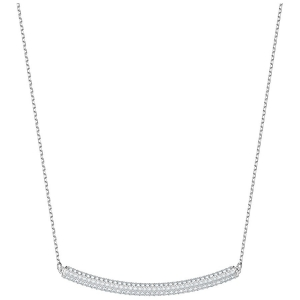 Swarovski: Stone Choker Necklace, White, Rhodium Plated