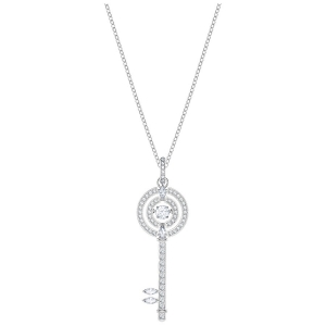 Swarovski: Sparkling Dance Key Pendant Necklace, White, Rhodium Plated