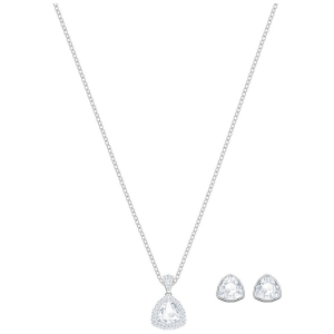 Swarovski: Begin Set, White, Rhodium Plated