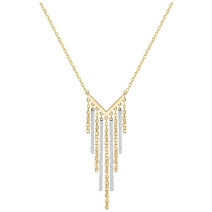 Swarovski: Lyrebird Necklace, White, Gold and Rhodium Plated