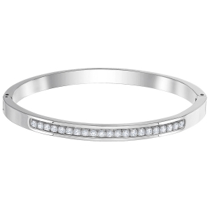 Swarovski: Further Thin Bangle, Stainless Steel
