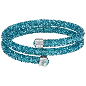 Swarovski: Crystaldust Double Bangle, Aqua