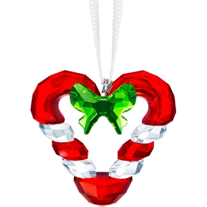 Swarovski: Candy Cane Heart Ornament