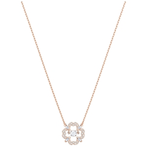 Swarovski: Sparkling Dance Flower Necklace, Rose Gold Plated