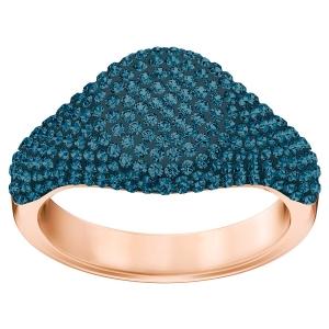 Swarovski: Stone Signet Ring, Blue, Size 6