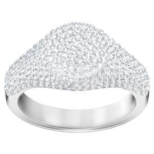 Swarovski: Stone Signet Ring, White, Size 5