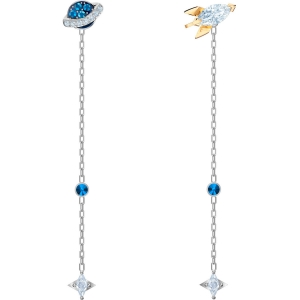 Swarovski: Out of this World Space Earrings, Multicolored, Rhodium Plated