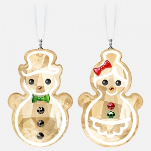 Swarovski: Gingerbread Snowman Couple Ornaments