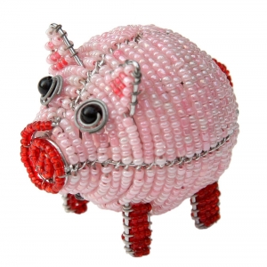 Beadworx: Beaded Pig