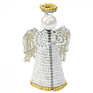 Beadworx: Beaded Mini Angel Ornament