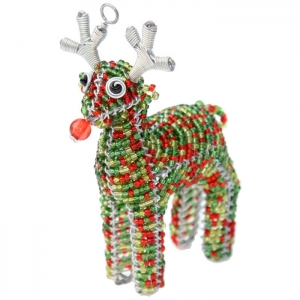 Beadworx: Beaded Mini Reindeer Ornament