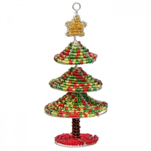 Beadworx: Beaded Mini Tree Ornament