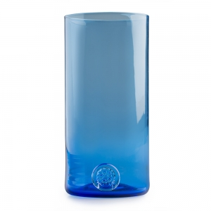 Five O'Clock Glass: Rainbow Tumbler, Blue