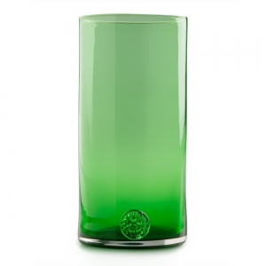 Five O'Clock Glass: Rainbow Tumbler, Green