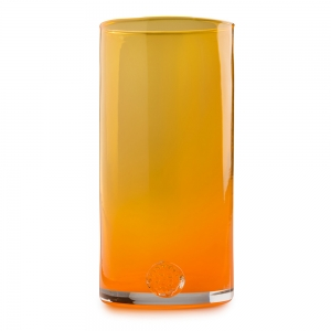 Five O'Clock Glass: Rainbow Tumbler, Orange