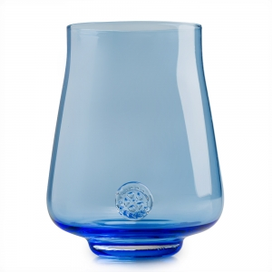 Five O'Clock Glass: Rainbow Wine Glass, Blue