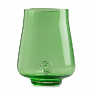 Five O'Clock Glass: Rainbow Wine Glass, Green