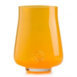 Five O'Clock Glass: Rainbow Wine Glass, Orange