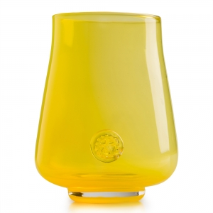 Five O'Clock Glass: Rainbow Wine Glass, Yellow