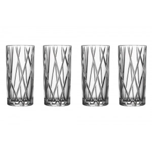 Orrefors: City Highball Glasses, Set of 4