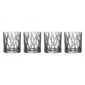 Orrefors: City Old Fashioned Glasses, Set of 4