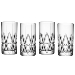 Orrefors: Peak Highball Glasses, Set of 4