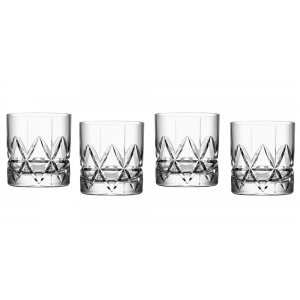 Orrefors: Peak Old Fashioned Glasses, Set of 4