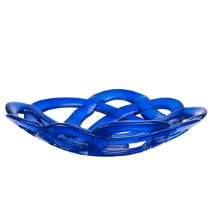 Anna Ehrner: Large Basket Bowl, Blue