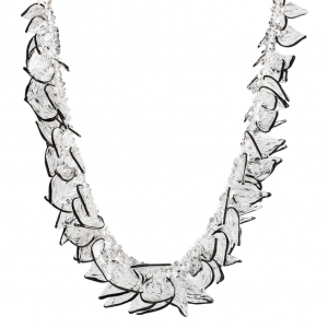 Nirit Dekel: Feather Necklace, Clear & Black