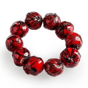 Nirit Dekel: Orb Bracelet, Red & Black