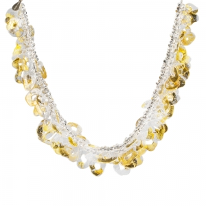 Nirit Dekel: Hoop Necklace, Gold & Clear