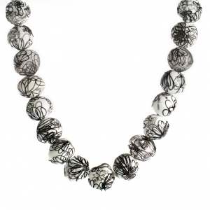 Nirit Dekel: Sketch Necklace, Black & White