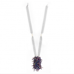 Nirit Dekel: Purple Cluster Necklace
