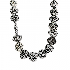 Nirit Dekel: Orb Necklace, Black & White