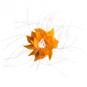 Nirit Dekel: Flower Brooch, Orange