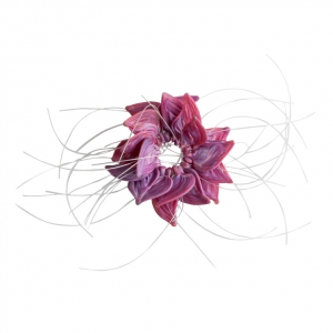 Nirit Dekel: Flower Brooch, Purple