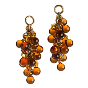 Nirit Dekel: Orb Earrings, Amber
