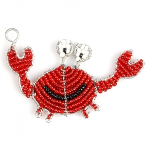 Beadworx: Beaded Crab Keychain