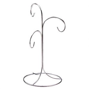 3 Way Silver Ornament Stand